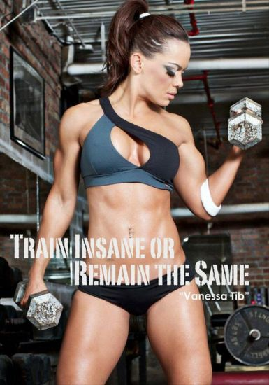 """Train insane of remain the same"" Vanessa Tib"