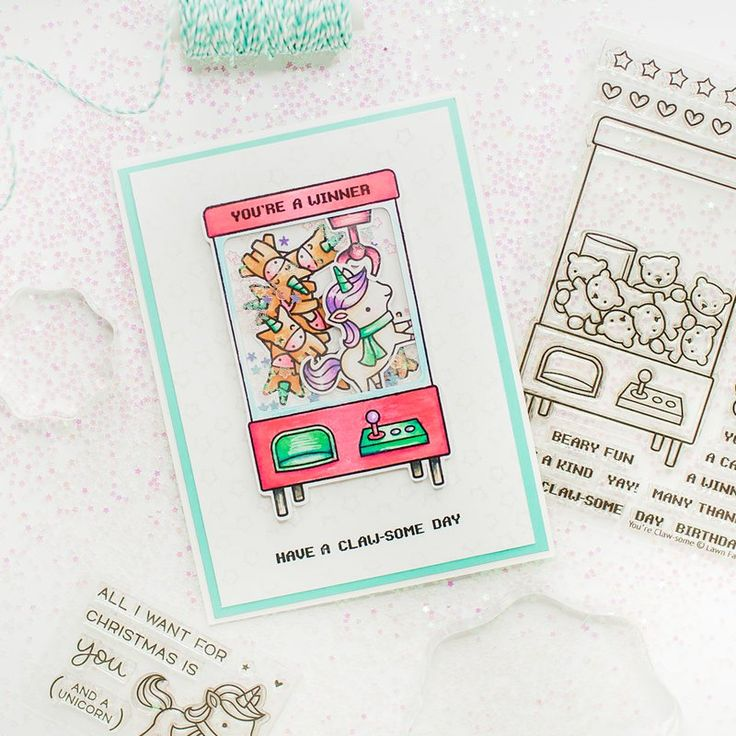 You are a winner - Card using the LAwn Fawn - You're Claw-some stamps and dies available now at Scrapbook.com. #scrapbookcom #scrapbook #scrapbooking #cardmaking #stamping #learncrafting #lifehandmade #scrapbookdotcom #sbcinspired