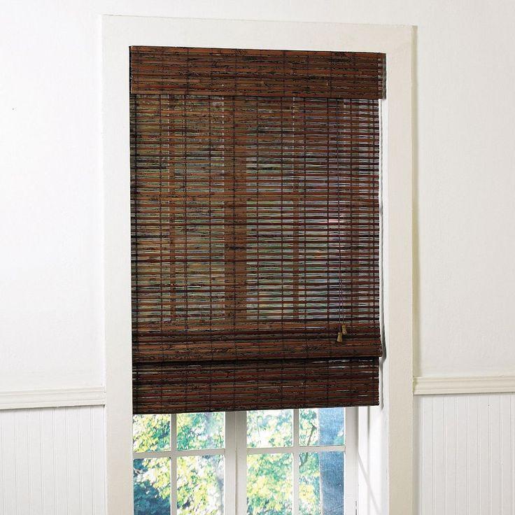 Radiance Santa Cruz Light Filtering Bamboo Roman Shades, Brown