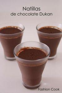 Natillas de chocolate Dukan