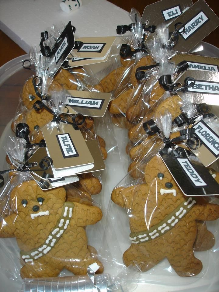 Chewbacca Cookies for Star Wars Party