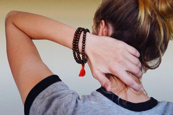 Meditation Bracelet  Handmade Bracelet  Mala by TheSpottedBeard