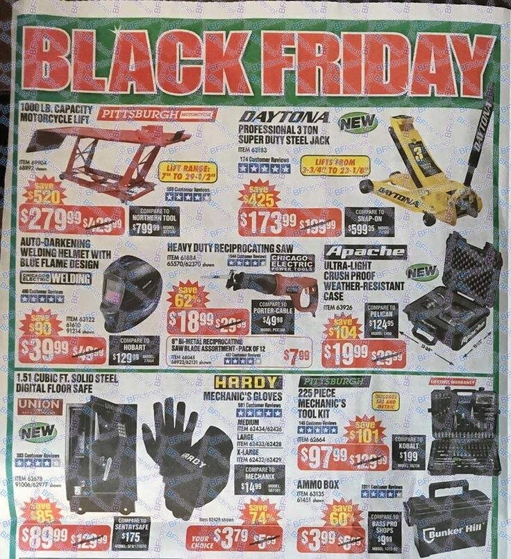 Harbor Freight Black Friday 2018 Ads and Deals