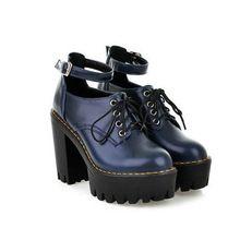Nieuwe ronde neus platform vrouwen schoenen laarzen winter enkellaars voor dames size34-39 punk(China (Mainland))