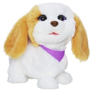 Happy to See Me Pets My Bouncin' Pup Pet She bounces and spins in circles,  bobs her head in different directions, barks or woofs and makes happy puppy sounds. http://bit.ly/1AeSvbF