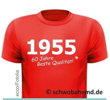 T-Shirt zum 60. Geburtstag / 60 Jahre beste Qualität