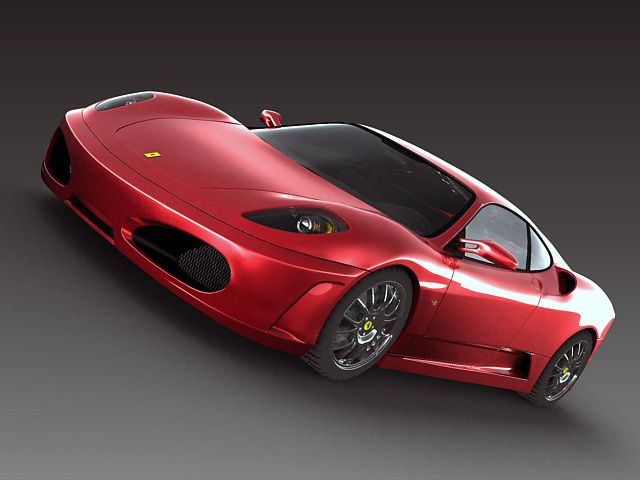 Ferrari F430 3D Model- The Meshsmooth and Turbosmooth modifiers are still on the stack of all objects you can use meshsmooth or turbosmooth subdivision. Textures and materials are included.  Rendered with V-ray. - #3D_model #Sport