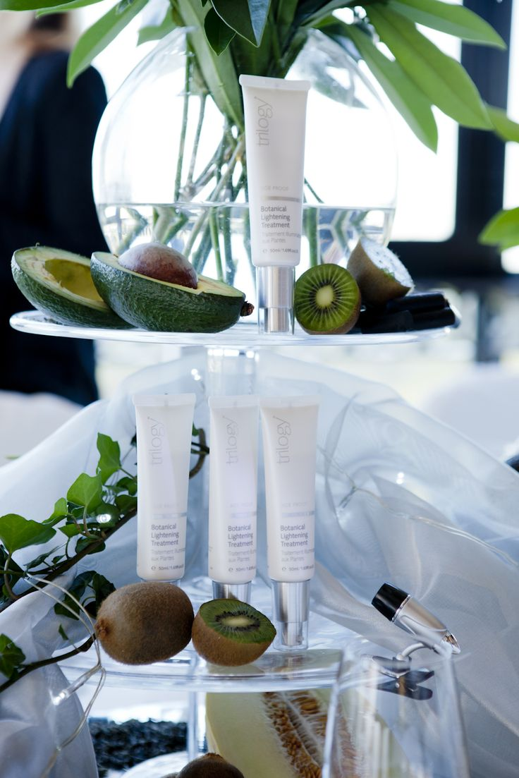 A beautiful product display at the 2013 UK Botanical Lightening Treatment launch