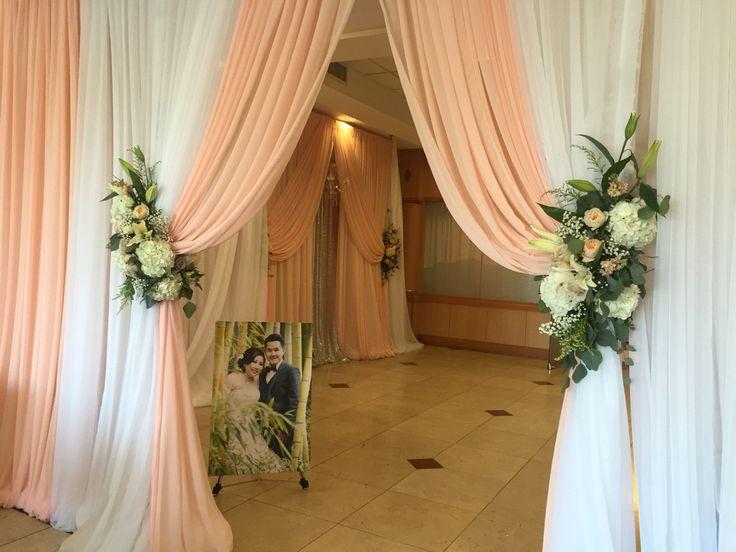 Wedding Reception Entrance Drapes And Aisles Decor