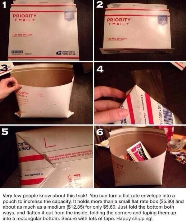 11 best do it yourself images on pinterest good ideas artwork a lady at the post office trick you can turn a flat rate envelope into a pouch to increase the capacity just fold the bottom both ways and flatten it out solutioingenieria Choice Image
