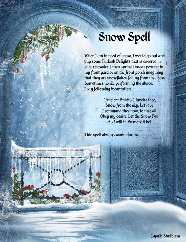 Magick Spells:  Snow #Spell.                                                                                                                                                                                 More