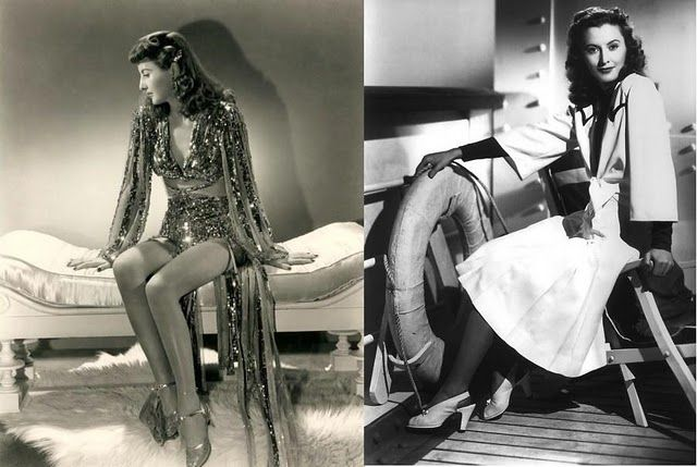 More Stanwyck - 1941's Ball of Fire and The Lady Eve. From bullionstitchwardrobe.wordpress.com.