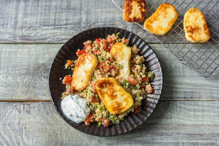 Taboulé-Salat mit würzigem Halloumi Rezept   HelloFresh