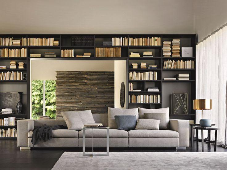 Sofá composable tapizado de tela TURNER by MOLTENI