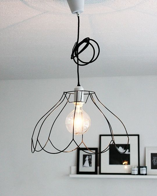 874 best lampy images on pinterest find this pin and more on lampy wire frame lampshades greentooth Image collections