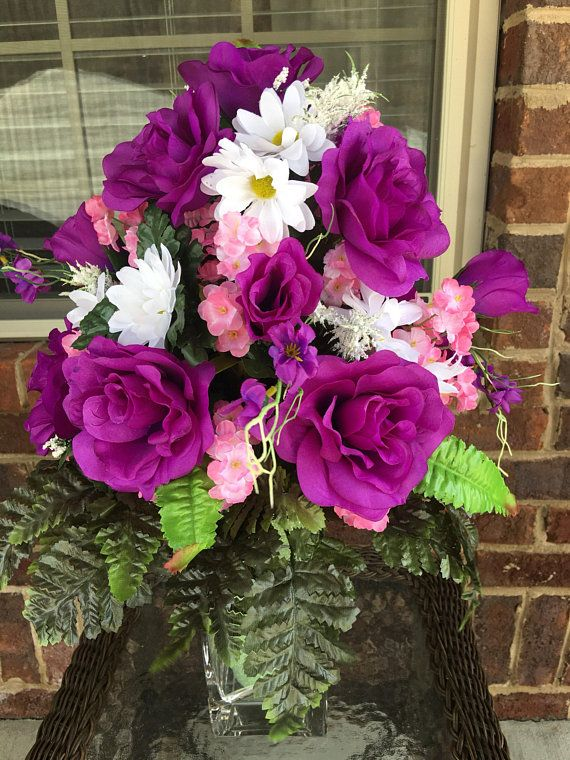 Cemetery Flowersmemorial Flowersstyrofoam Vase Insertflowers For