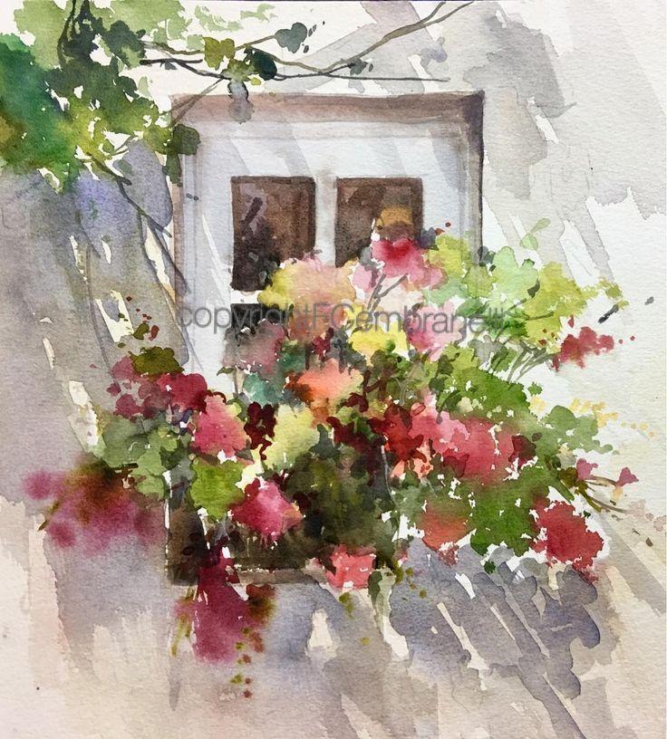 Shadows France Watercolor Watercolour Watercolor Art