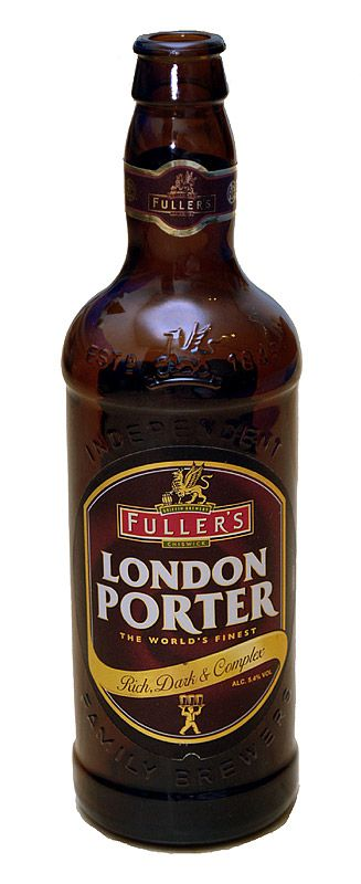 Porter is a dark style of beer developed in London from well-hopped beers made from brown malt. The name was first recorded in the 18th century, and is thought to come from its popularity with street and river porters.