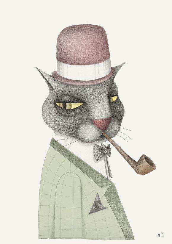 Katt i hatt II/Cat with hat II - Pnil