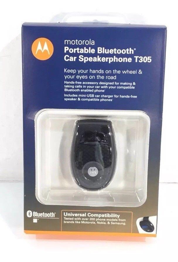 f979ae22e9f054 Motorola T305 Portable Bluetooth Car Speakerphone T305 FREE SHIPPING # Motorola