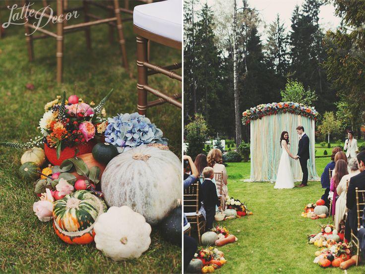 """Autumn Romance"" Wedding | Decor and floral by LatteDecor; Organization by AjurWedding."