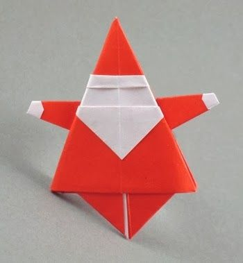 246 best origami christmas images on pinterest xmas for Make origami santa claus