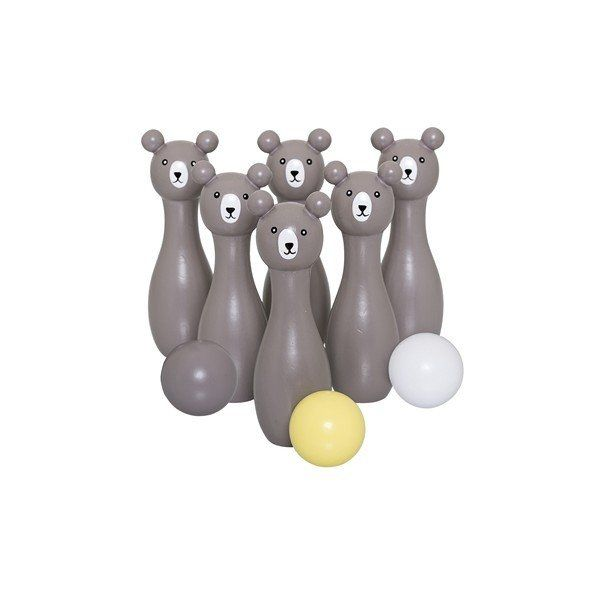 Kido Store: Wooden Play Set - Bowling Bears