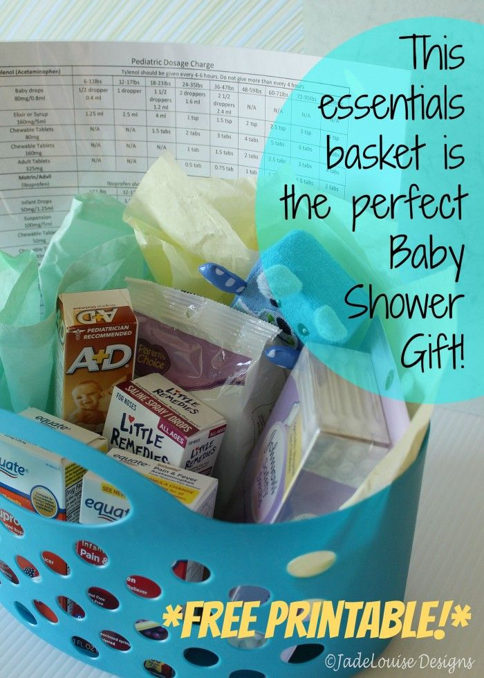 This basket of essentials makes the perfect baby shower gift