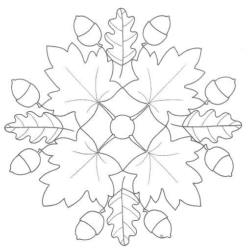 autumn mandala coloring page (9)  |   Crafts and Worksheets for Preschool,Toddler and Kindergarten
