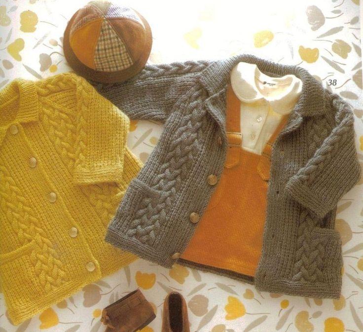 пальто, вязание спицами, схемы