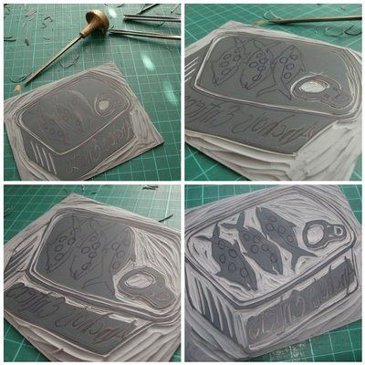 tutorial on how to make linocuts, I really want to do printmaking again.