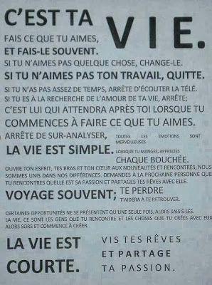 C'est ta vie !