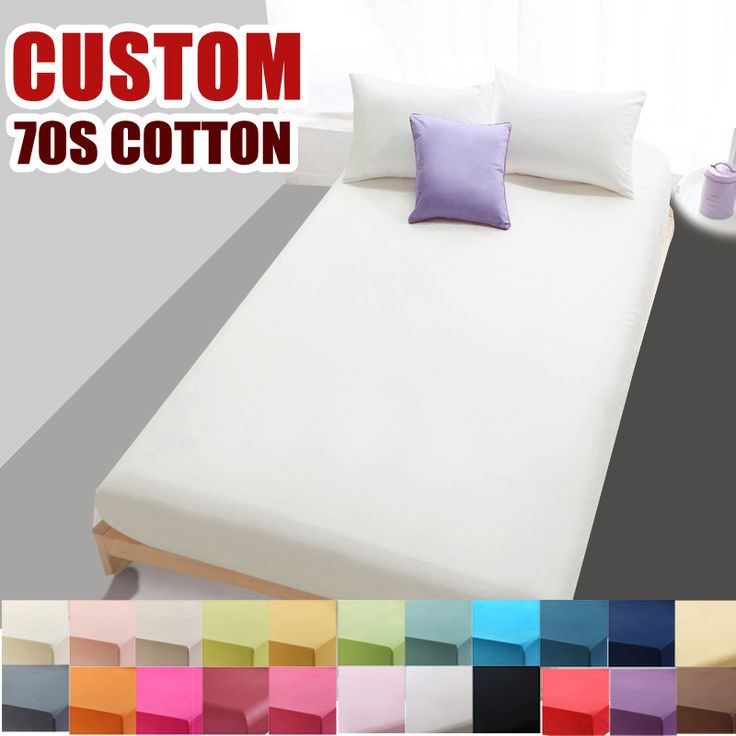 Custom 70S Cotton Solid Bed Sheet for double single fitted sheet bedding linens sheets,High-density bed sheet White Black#9115