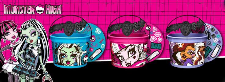 McDonalds restaurants 2013 Halloween bucket pail Monster High/Star Wars