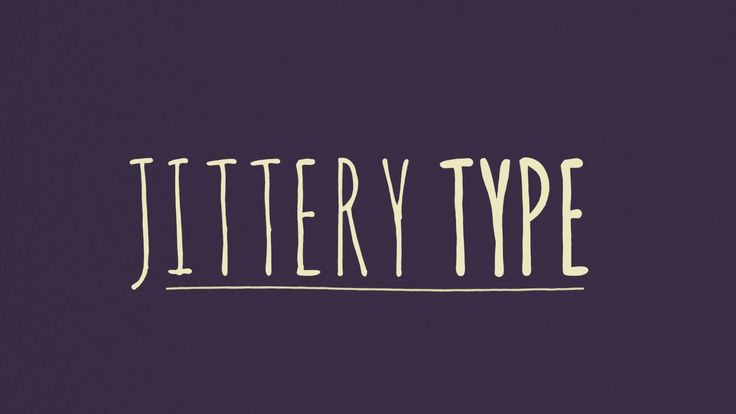Jittery Type After Effects Tutorial