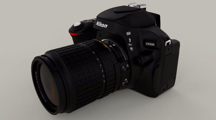 Modelado de cámara Nikkon en Maya 3D 2015 con motor de render Vray