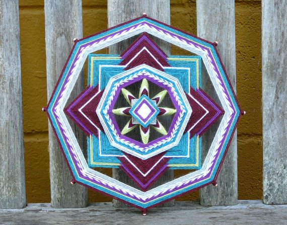Little Gem an 11 inch 8sided Ojo de Dios mandala by JaysMandalas, $35.00