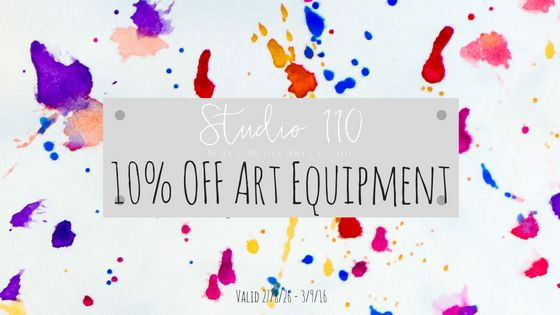 Get in quick before we run out of Art Equipment! Sale Ends September 3rd. #Studio110NZ