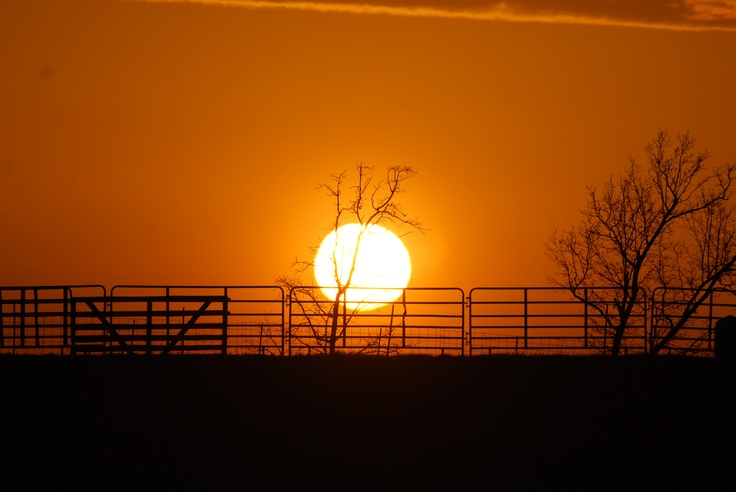 Sunset on the Cow Pen. Taken from a friends pasture near our home here in Southeast Missouri