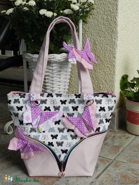 Lepkefogó - uzsonnás táska (Flowergarden) - Meska.hu
