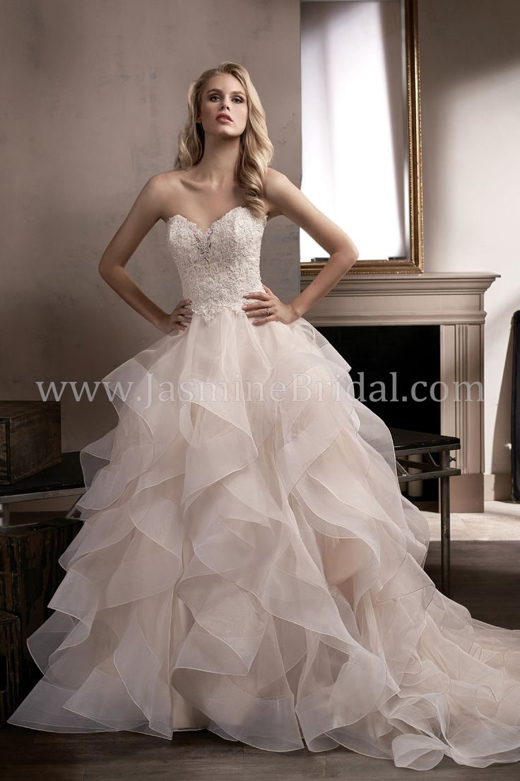 Jasmine Bridal - Couture Style T192010 in Ivory/Vintage