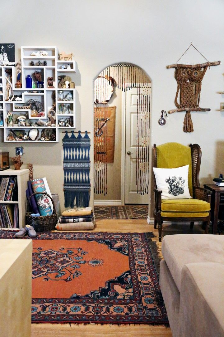 My Eclectic Boho Entryway via bohocollective.com