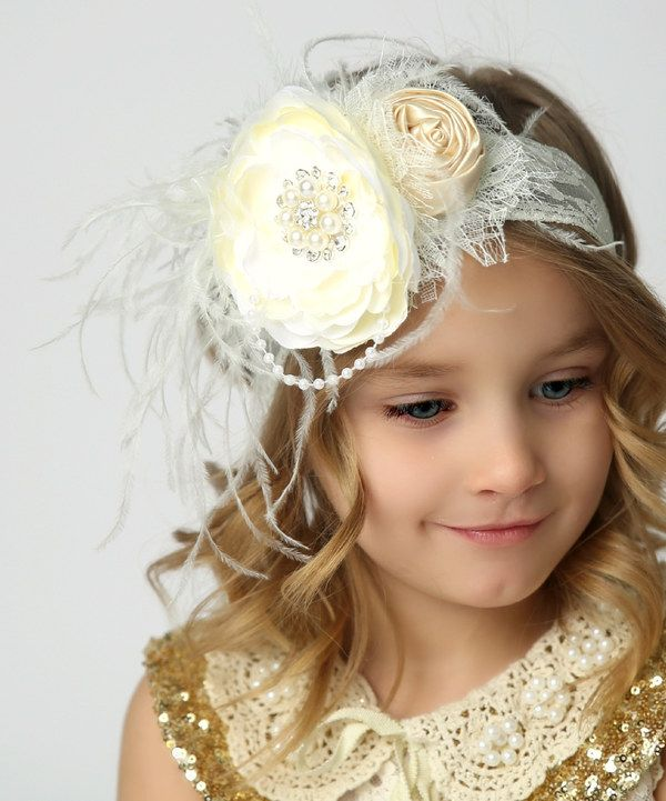 Look at this Vanilla Bean Ice Cream Pearl Rosette Lace Headband on #zulily today!