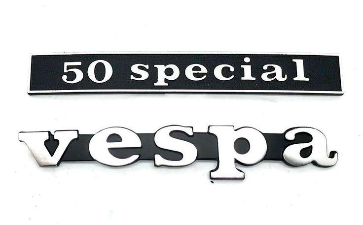 MF0655 - TARGHETTA SCRITTA ANTERIORE + POSTERIORE PIAGGIO VESPA 50 SPECIAL   eBay