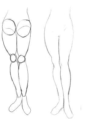 Las piernaspueden ser otro problema para los artistas. Es difícil darles una formaapropiada (especialmente cuando no practicas mucho, como yo... ^_^; ).