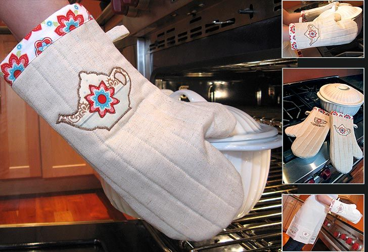 Maybe I'll have a little leftover fabric from my kitchen projects to make a matching set of oven mitts.