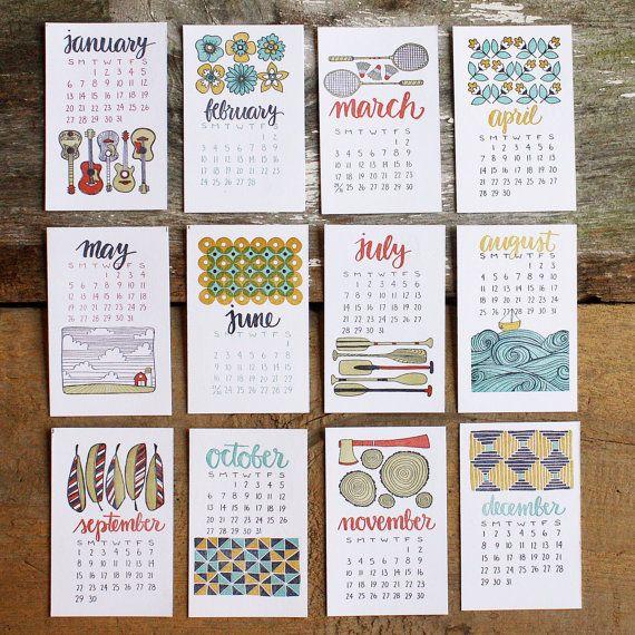 2013 Letterpress Calendar. $26.00, via Etsy.