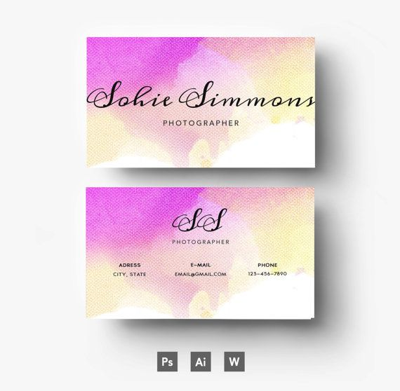 22 best Watercolour Business Cards images on Pinterest - tech support resumeresume business cards