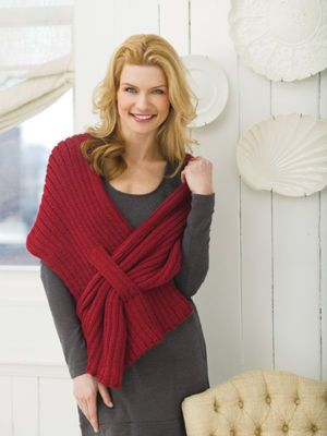 Free Pattern. Ribbed Slit Shawl This shawl has the added feature of a slit that helps keep this shawl in place as you wear it.