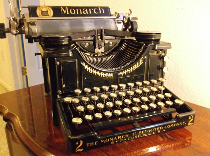 Vintage 1900s Monarch Typewriter Near Mint Historical Relic Amazingly Preserved | eBay
